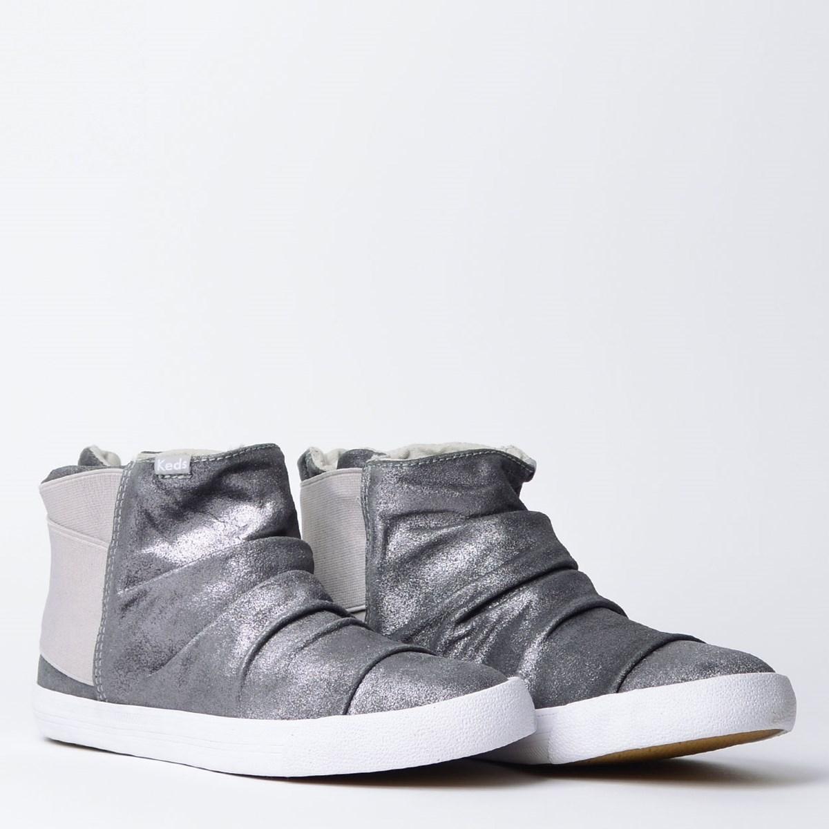 Tênis Keds Topkick Boot Gliter Suede Cinza KD1302016
