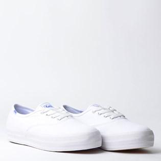 Tênis Keds Triple Canvas Branco Branco KD762256