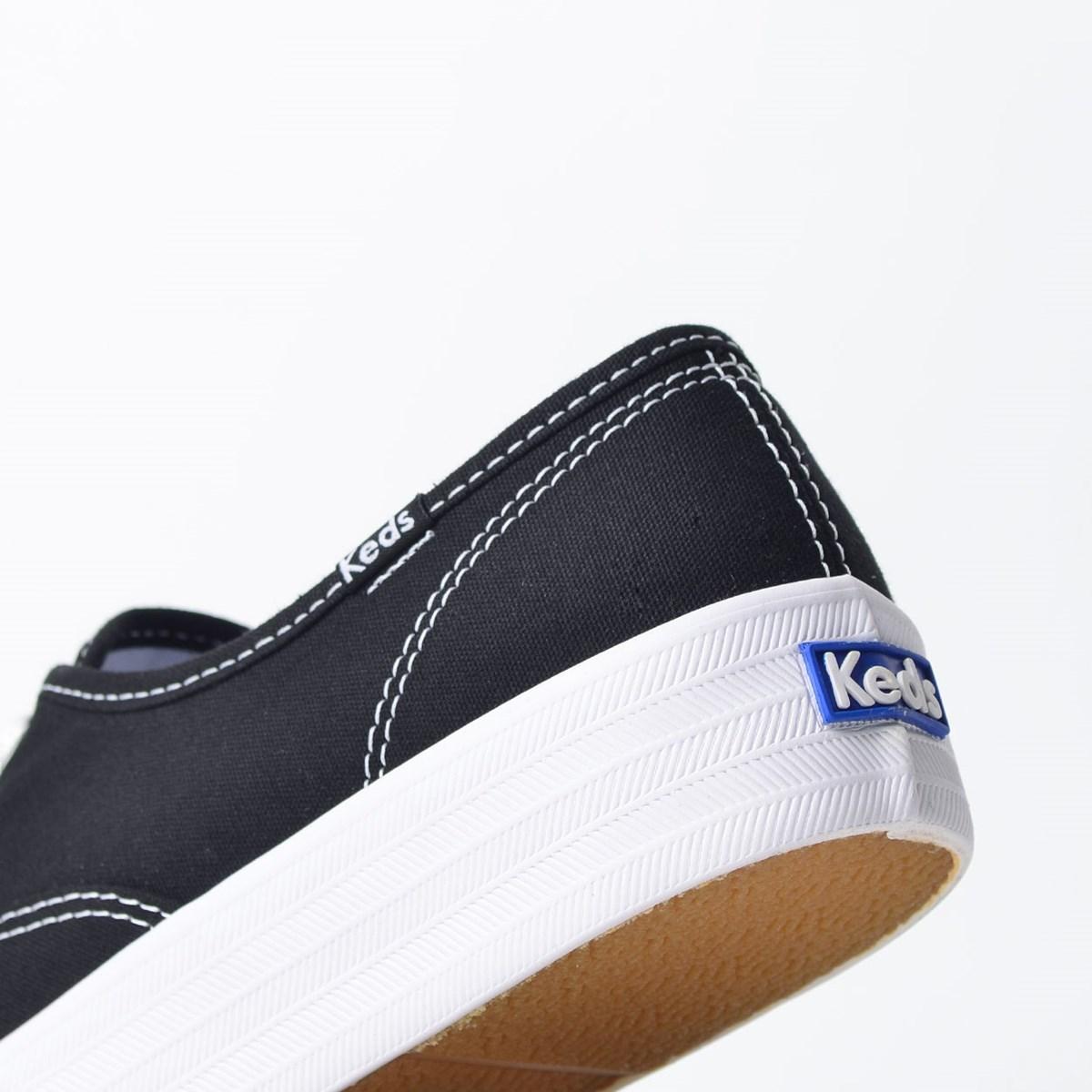Tênis Keds Triple Canvas Preto Branco KD762143