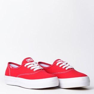 Tênis Keds Triple Canvas Vermelho Branco KD762639