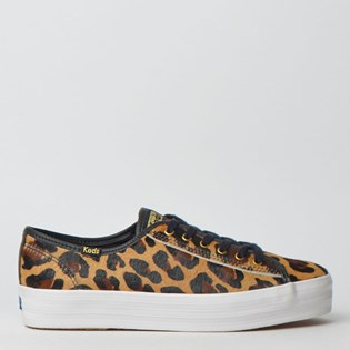 Tênis Keds Triple Kick Animal Print 2 Tan Preto KD1410809