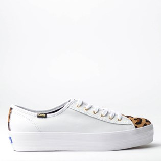 Tênis Keds Triple Kick Animal Print Branco KD1384002
