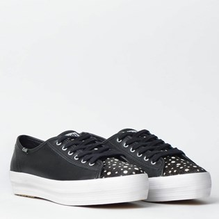 Tênis Keds Triple Kick Animal Print Preto KD1384001