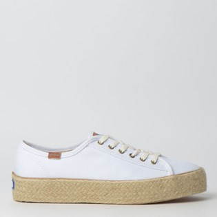 Tênis Keds Triple Kick Canvas Jute Branco KD229002