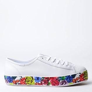Tênis Keds Triple Kick Floral Foxing Branco KD1357002