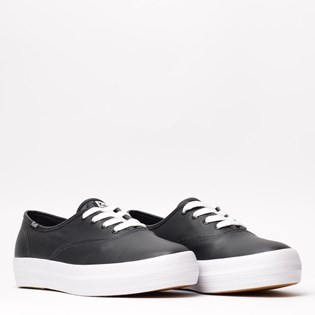 Tênis Keds Triple Leather Preto Branco KD1033143