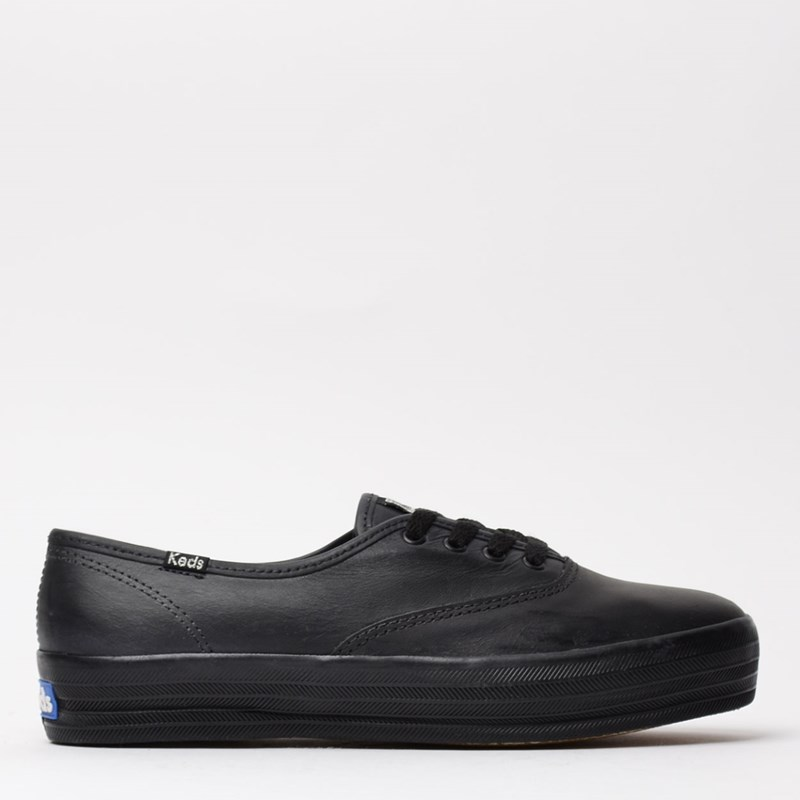 Tênis Keds Triple Leather Preto Preto KD1033001