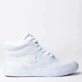 Tênis Mary Jane High School Couro White MJ-4149