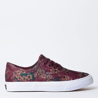 Tênis Mary Jane Venice Jacquard Burgundy MJ-4166B