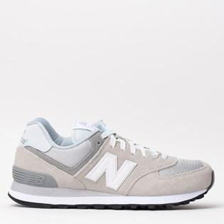 Tênis New Balance 574 Cinza Cinza WL574CA ... b9c93206878a5
