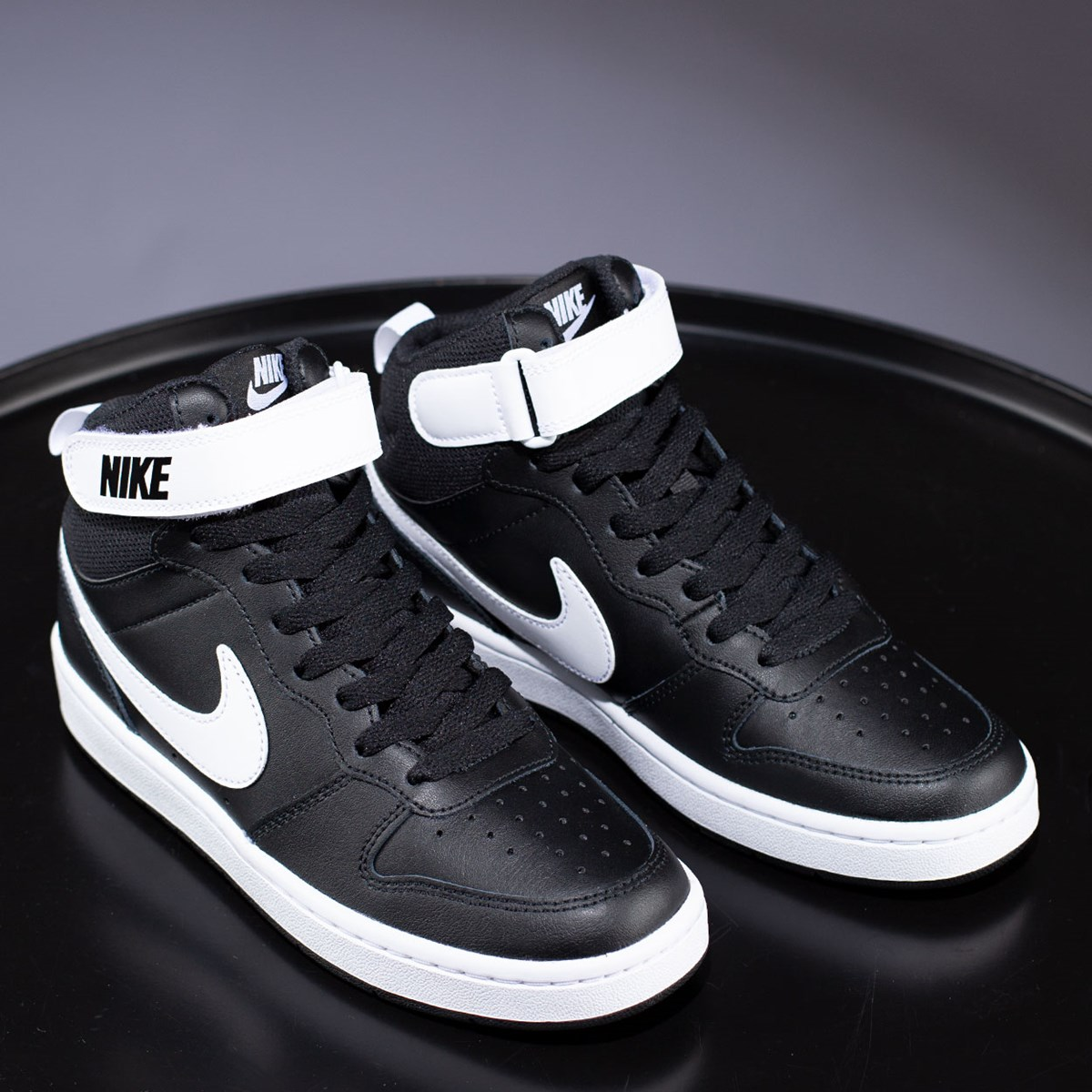 Tênis Nike Court Borough Mid 2 Black White CD7782-010