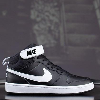 Tênis Nike Court Borough Mid 2 Black White CD7782-010