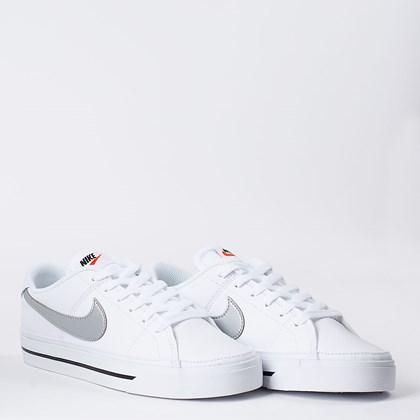 Tênis Nike Court Legacy White Metallic Silver CU4149-103