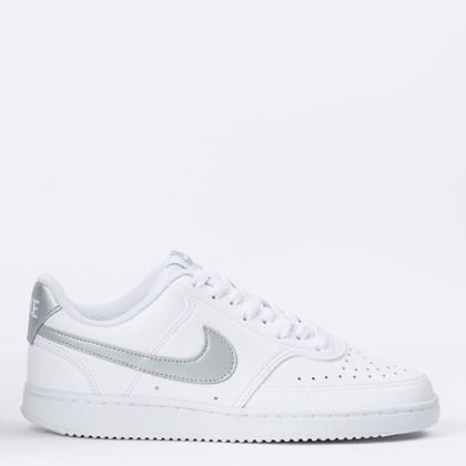 Tênis Nike Court Vision Low White Metallic Silver CD5434-111
