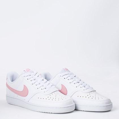 Tênis Nike Court Vision Low White Pink Glaze CD5434-100