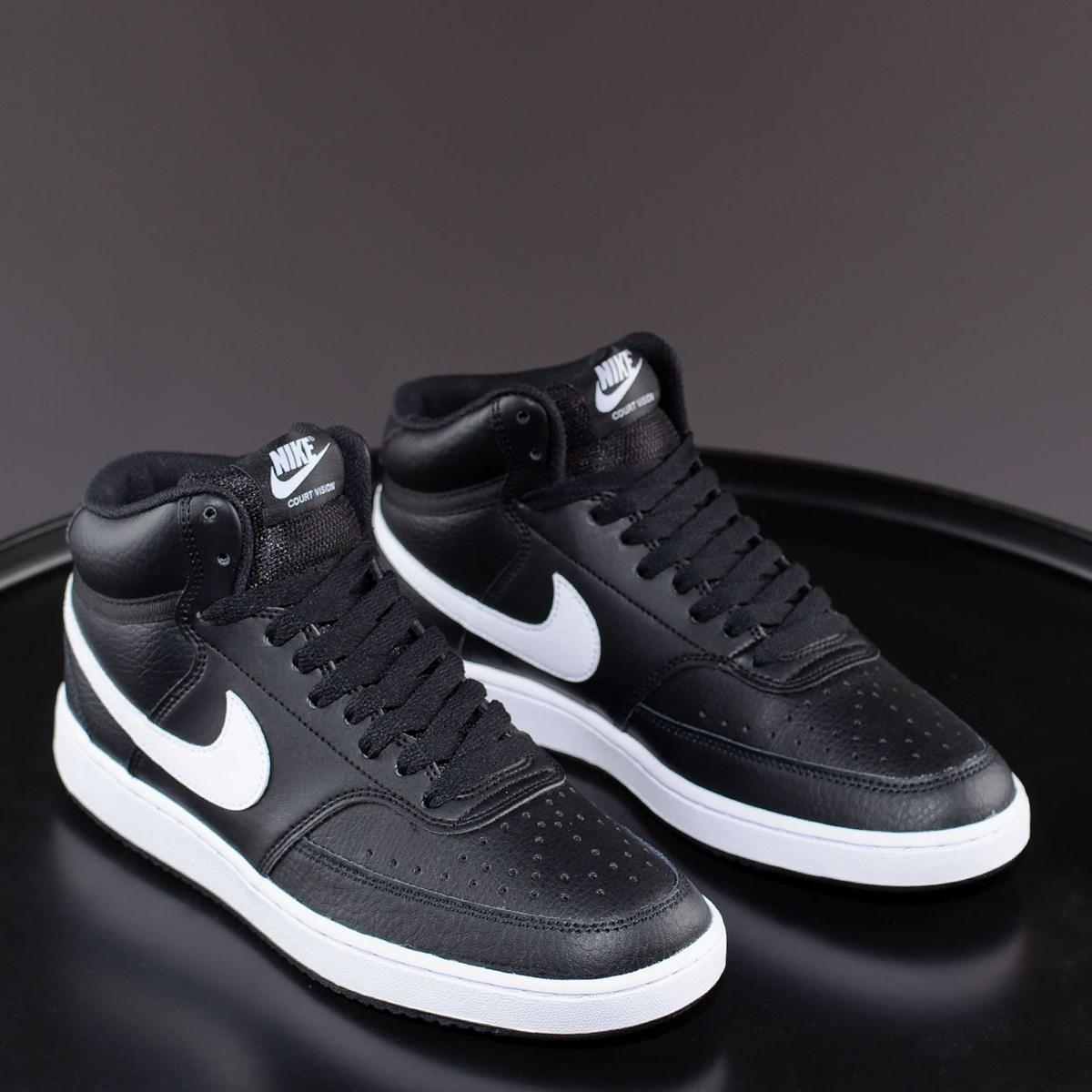 Tênis Nike Court Vision Mid Black White CD5466-001