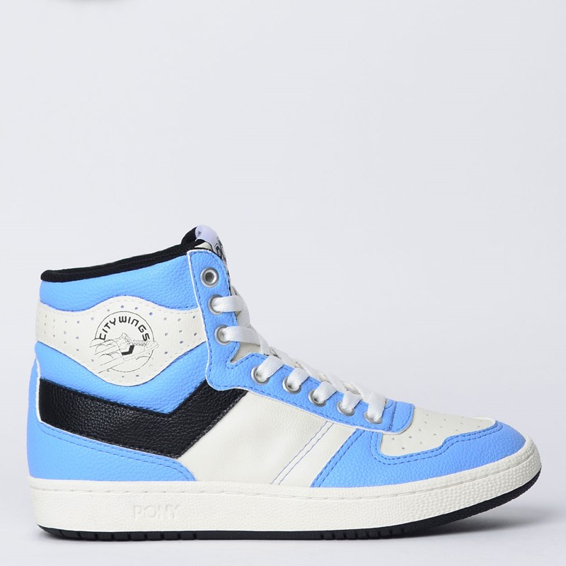 Tênis Pony City Wings Hi Mini Relax Azul Branco Preto PO2601138
