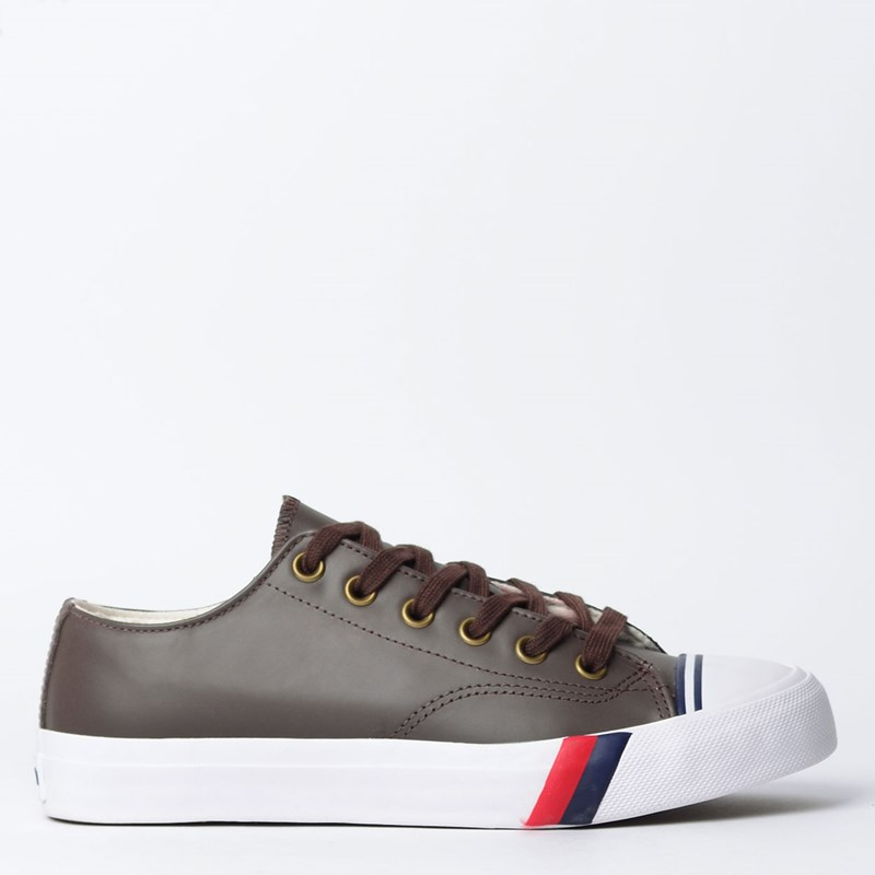 Tênis PRO-Keds Royal Lo Leather Marrom PK110010
