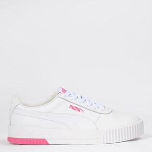 Tênis Puma Carina L BDP White Pink 37556552