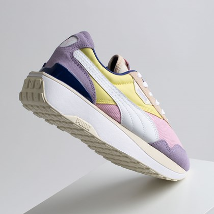 Tênis Puma Cruise Rider Silk Road Pink Lady Yellow Pear 375072-01