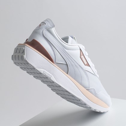 Tênis Puma Cruise Rider White Cloud Pink 374865-01
