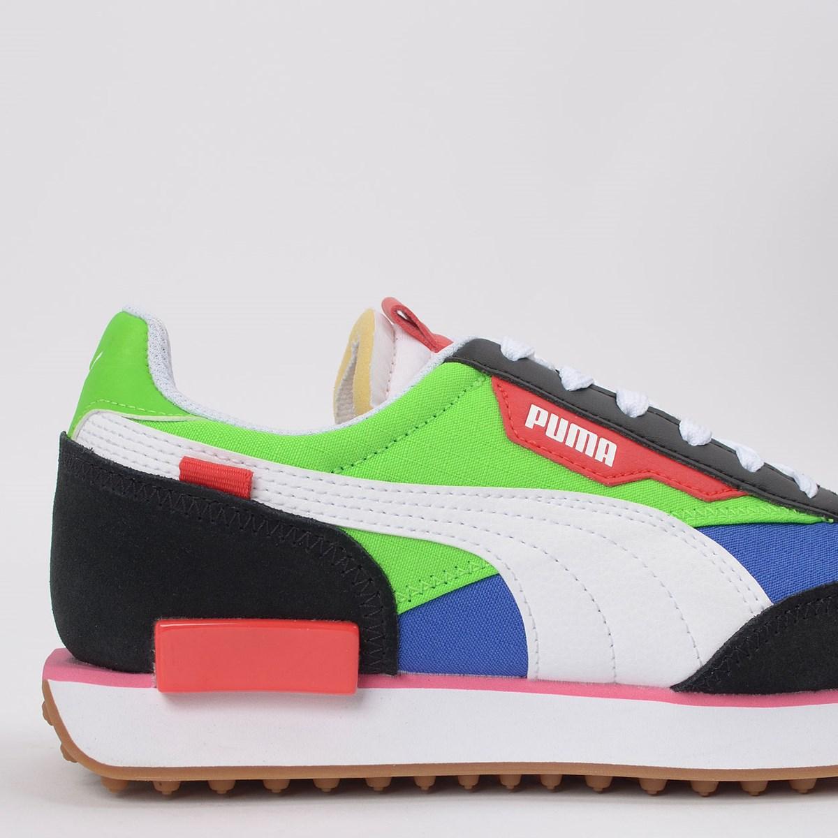 Tênis Puma Future Rider Play On Black Green 371149-01