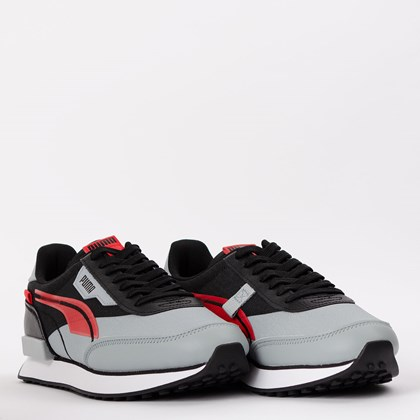 Tênis Puma Future Rider Twofold Black High Risk Red 380591-02