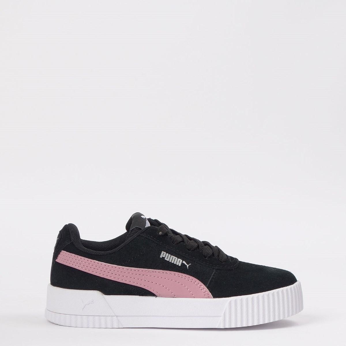 Tênis Puma Kids Carina Black Foxglove Pink 370533-05