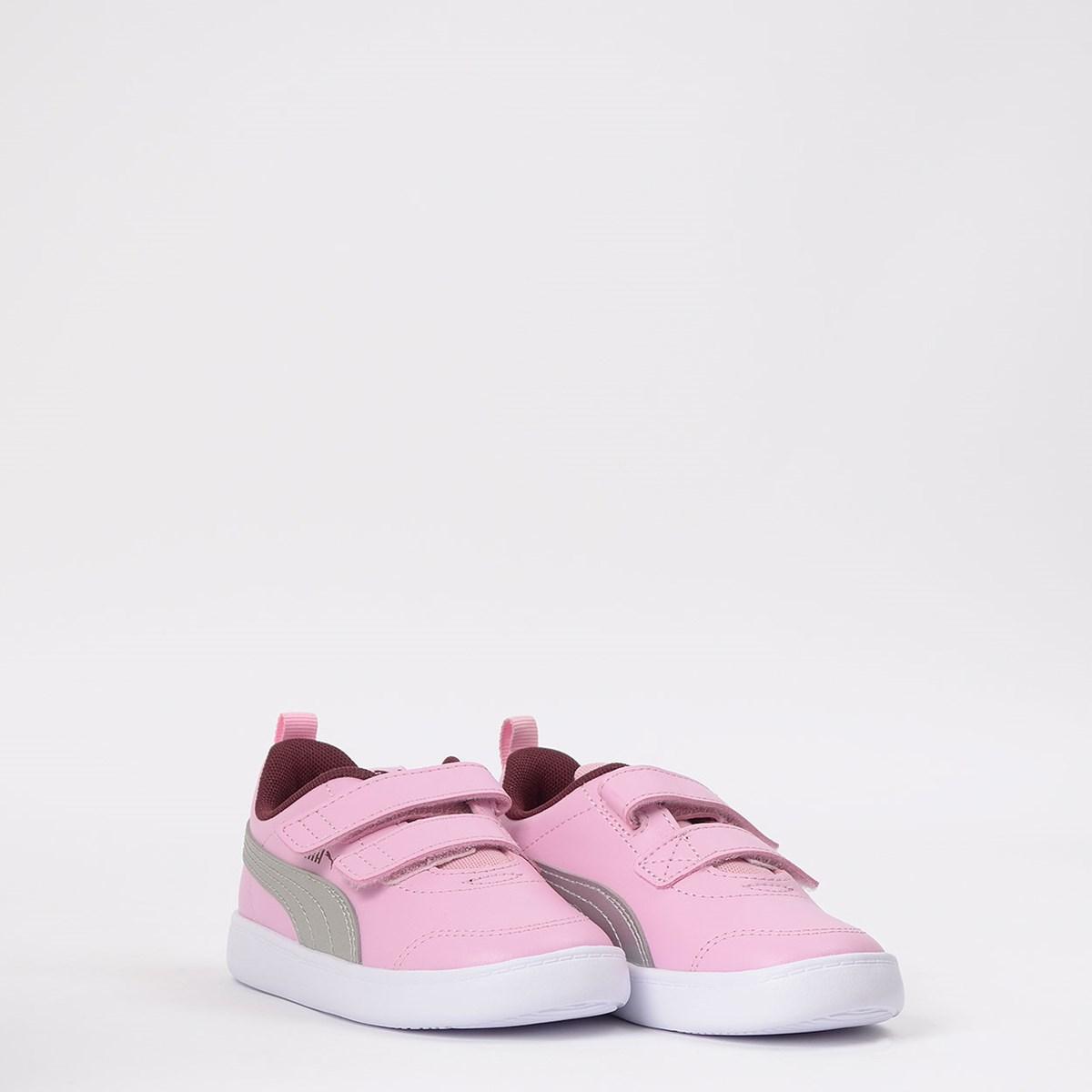 Tênis Puma Kids Courtflex V2 V Pink 371544-10
