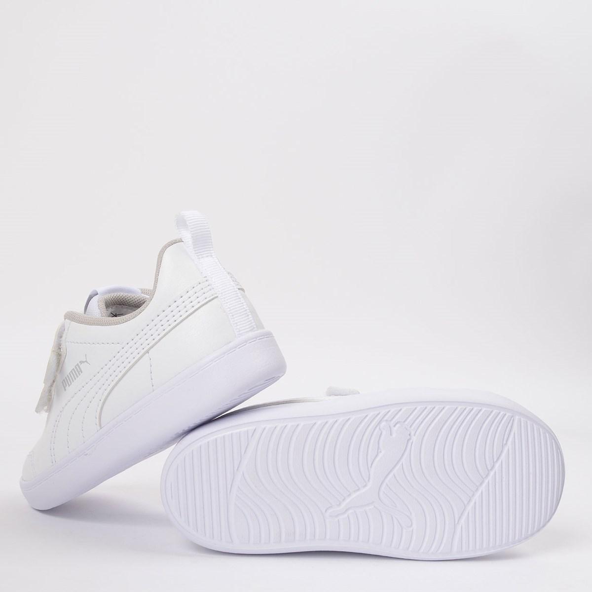 Tênis Puma Kids Courtflex V2 V White 371544-04