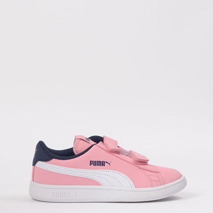 Tênis Puma Kids Smash v2 Buck V Pink 365183-16
