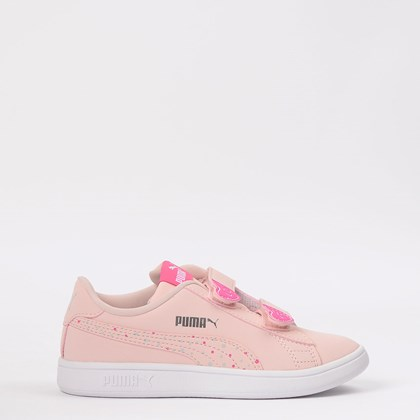 Tênis Puma Kids Smash V2 Candy V Peachskin 373187-01