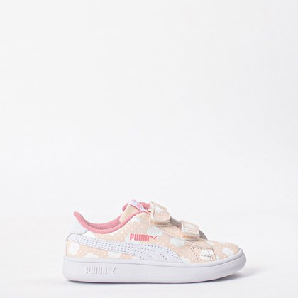 Tênis Puma Kids Smash V2 Cloud V Rosewater 37119401