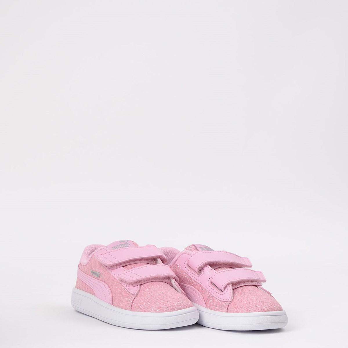 Tênis Puma Kids Smash V2 Glitz Glam V Pale Pink 367380-19