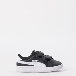 Tênis Puma Kids Smash V2 L V Black White 36517403