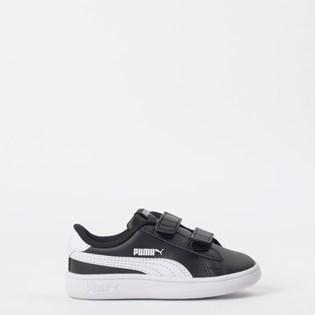 Tênis Puma Kids Smash V2 L V Black White 36517403