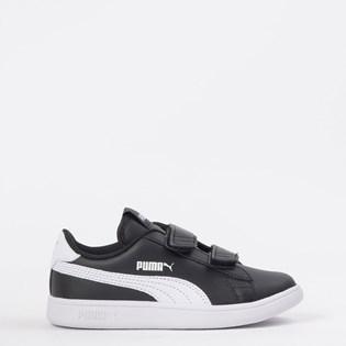 Tênis Puma Kids Smash V2 L V PS Black White 36517303