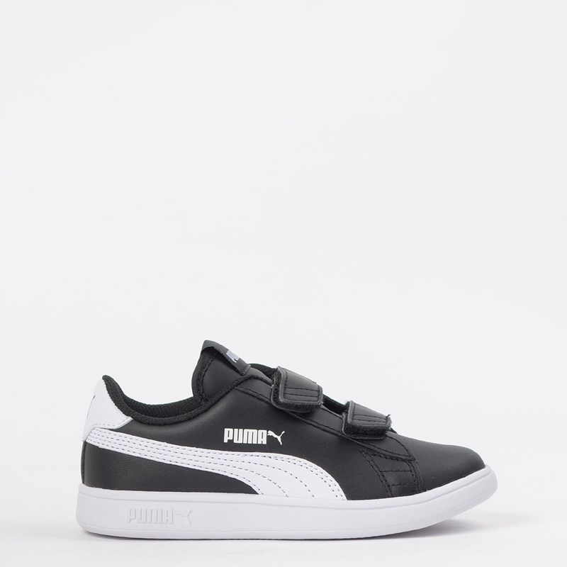 Tênis Puma Kids Smash V2 L V PS Black White 36517303