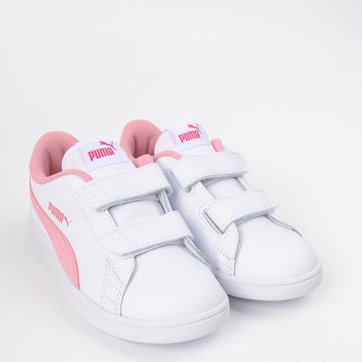 Tênis Puma Kids Smash V2 L V PS White Rose 36517318