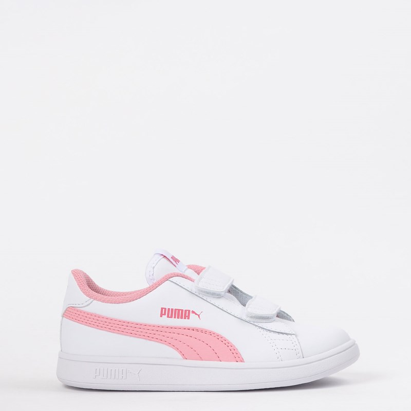 Tênis Puma Kids Smash V2 L V PS White Rose 36517318