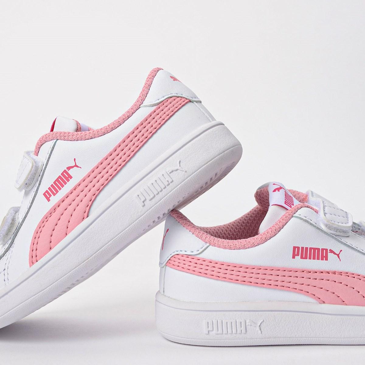 Tênis Puma Kids Smash V2 L V White Rose 36517418