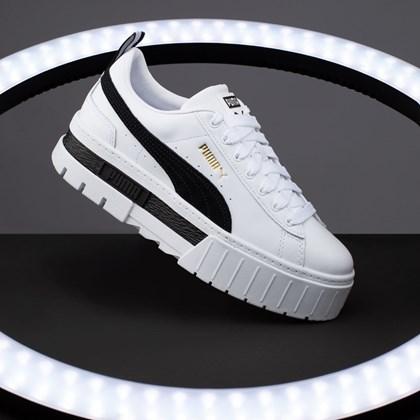Tênis Puma Mayze LTH White Black 381983-01