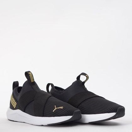Tênis Puma Prowl Slip On WNS BDP Black Gold 19383801