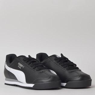 Tênis Puma Roma Basic Black White 35357211