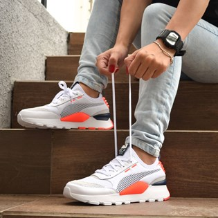 Tênis Puma RS-0 Core White Peacoat Fiery Coral 36960112