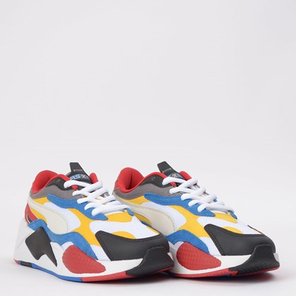 Tênis Puma RS-X3 Puzzle White Spectra Yellow 371570-04
