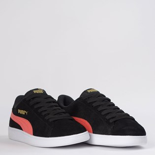 Tênis Puma Smash V2 BDP Black Hot Coral 36714739