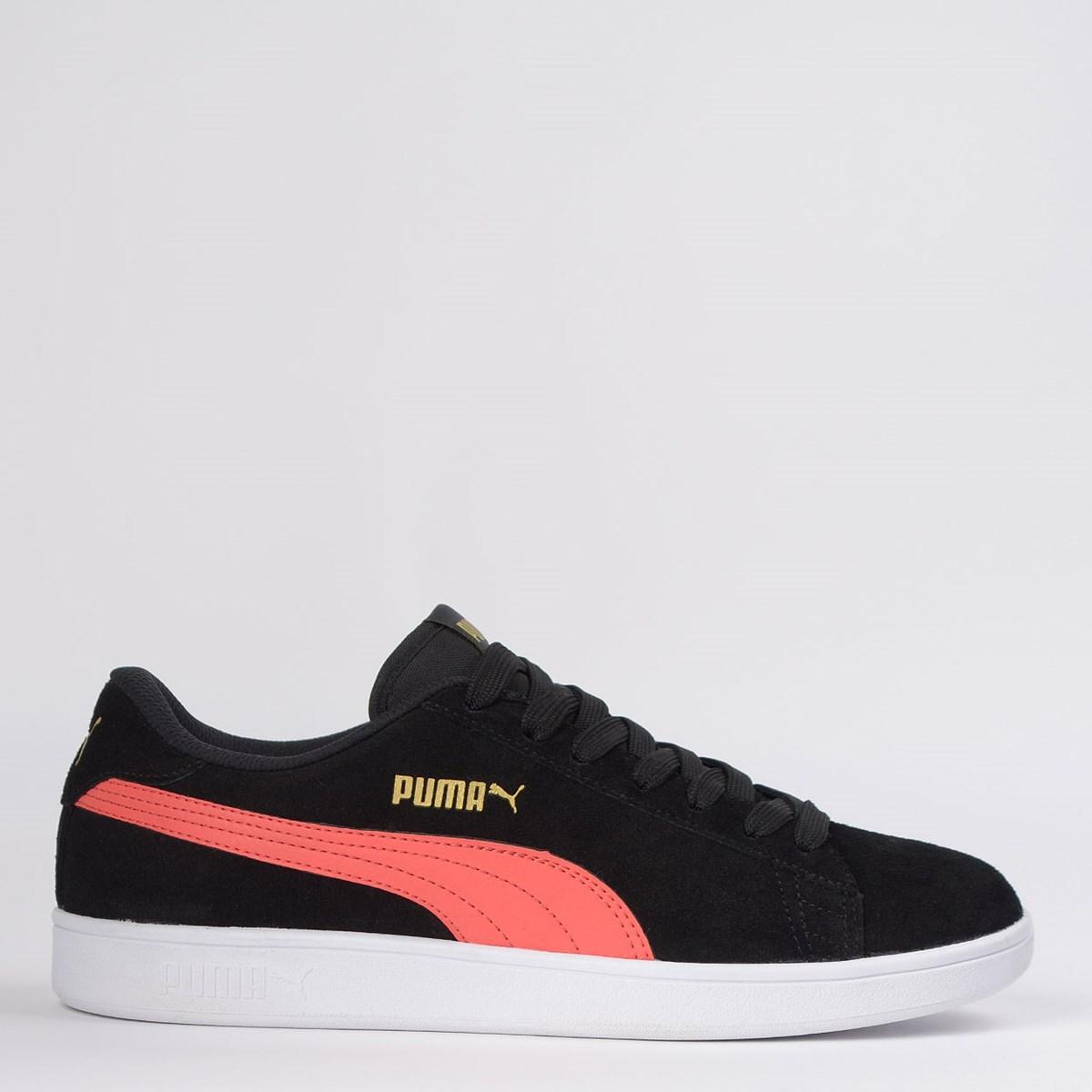 Tênis Puma Smash V2 BDP Black Hot Coral 36714739
