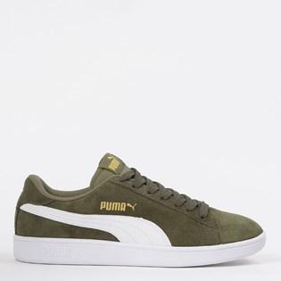 Tênis Puma Smash V2 BDP Oliva Branco Dourado 36714741