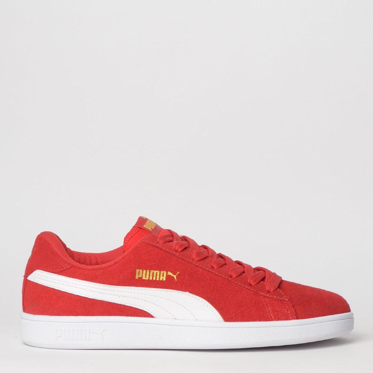 Tênis Puma Smash V2 Vermelho Branco 36714722